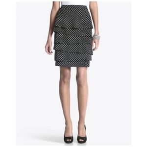 WHBM Skirt Polka Dots Tiered Size 8